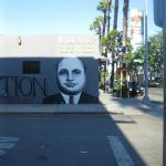 Al capone mural , located at the prohibition gallery in culver city / WALL MURAL - 14 ft x 35 ft