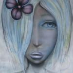 FLOWER CHILD - 3 ft x 5 ft mixed media on canvas